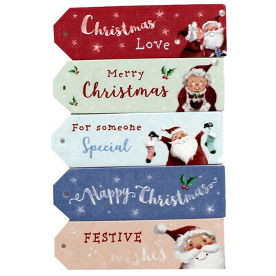 At Home with Santa Wooden Sentiment Toppers - 12 Pack image number 2