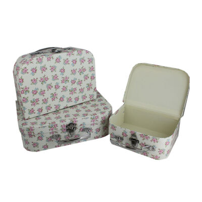 Floral Storage Suitcases - Set Of 3 image number 2