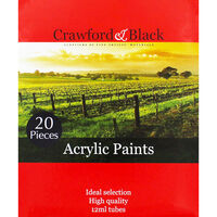 High Quality 12ml Acrylic Paints - Set of 20