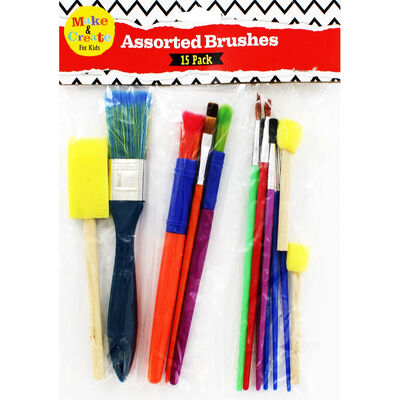 Assorted Brushes: Pack Of 15 image number 1