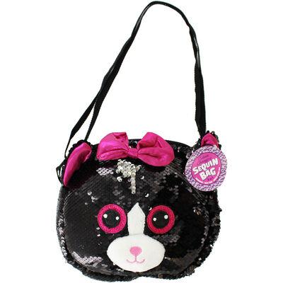 Black Silver Cat Sequin 3 In 1 Bag image number 1