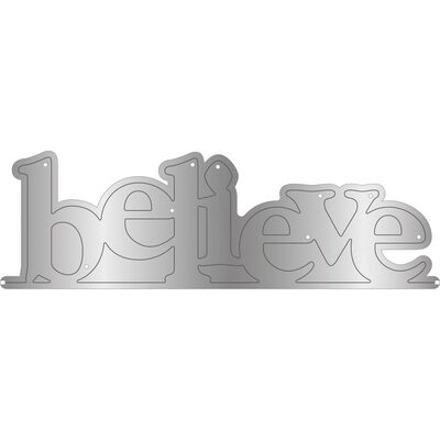 Gemini Stamp and Metal Die Set - Believe image number 2