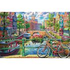 Amsterdam Canal 1000 Piece Jigsaw Puzzle image number 2