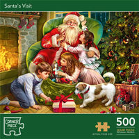 Santa's Visit 500 Piece Jigsaw Puzzle