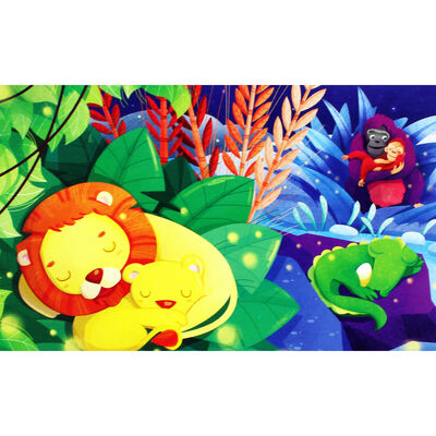 Jungle Friends 3-in-1 48 Piece Jigsaw Puzzle Set image number 4