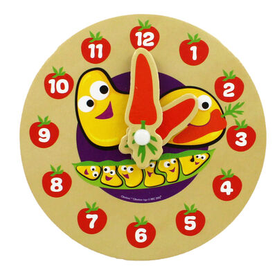 Cbeebies My First Wooden Clock - Assorted image number 2