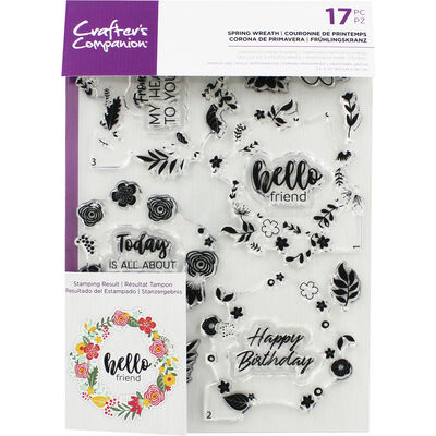 Crafters Companion Layering Stamp - Spring Wreath image number 1