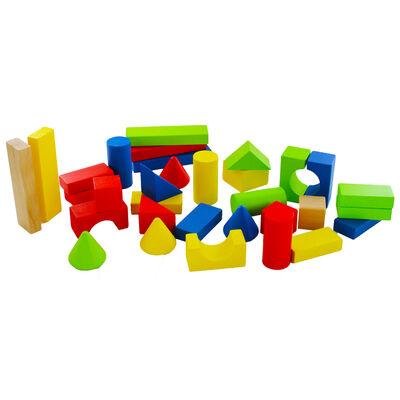 Wooden Blocks - 50 Pieces image number 2
