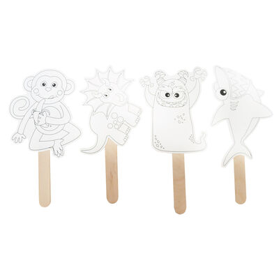 Colour Your Own Stick Characters Pack of 4 image number 2