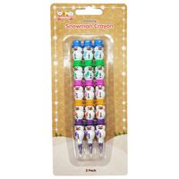 Snowman Stacking Crayons: Pack of 3
