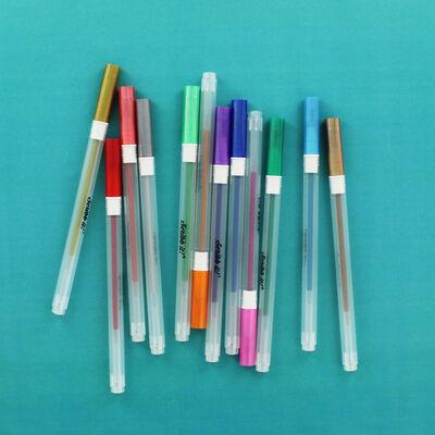 Metallic Gel Pens - 12 Pack image number 3