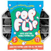 Pop 'N' Flip Bubble Popping Fidget Game: Assorted Tie-Dye Black Octagon