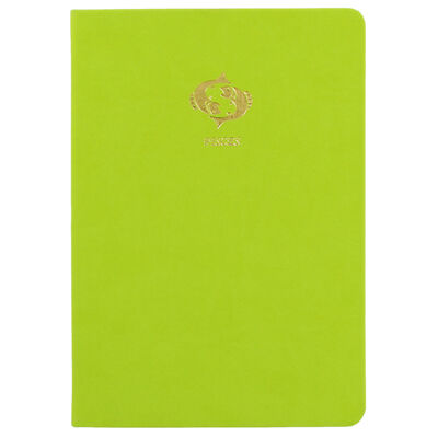 A5 Case Bound PU Zodiac Pisces Lined Journal image number 1