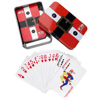 Christmas Playing Cards in Tin