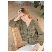 Hayfield Bonus DK: Relaxed Zig Zag Cardigan Knitting Pattern 10267