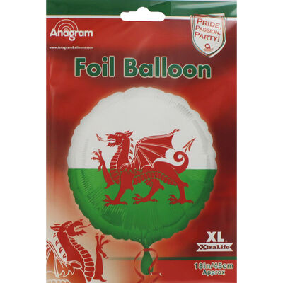 18 Inch Welsh Flag Helium Balloon image number 2