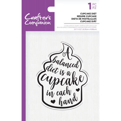 Crafters Companion Clear Acrylic Stamp - Cupcake Diet image number 1