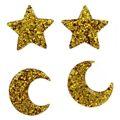 4pk Star Embellishments Gold image number 2