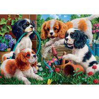 Playful Puppies 500 Piece Jigsaw Puzzle