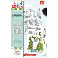 Natures Garden Gnomes Acrylic Stamp - Gnome Kissing Gate