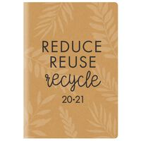 A5 100% Recycled Paper Week To View 2020-21 Academic Diary