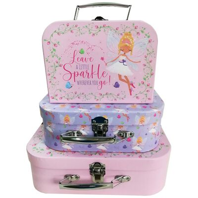 Fairy Storage Suitcases: Set of 3 image number 1