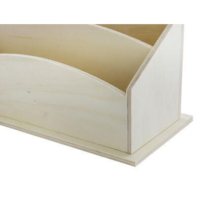 Natural Wooden Letter Tray image number 4
