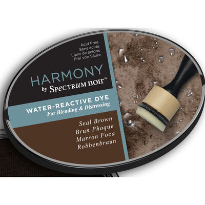 Harmony by Spectrum Noir Water Reactive Dye Inkpad - Seal Brown image number 4