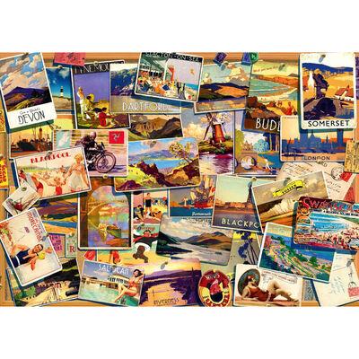 UK Postcards 1000 Piece Jigsaw Puzzle image number 2