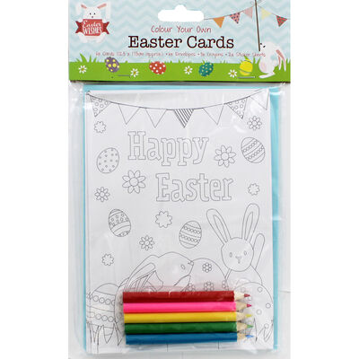 Colour Your Own Easter Cards - 6 Pack image number 1