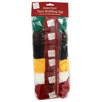 Assorted Yarn Knitting Set