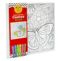 Colour Your Own Canvas with 6 Gel Pens: Butterfly