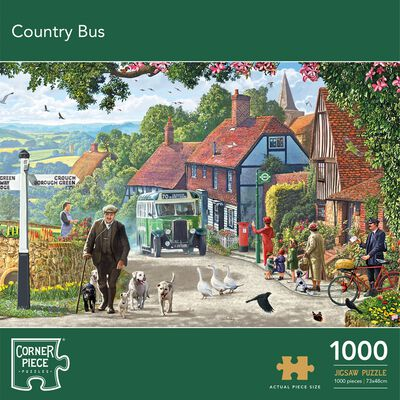 Country Bus 1000 Piece Jigsaw Puzzle image number 1