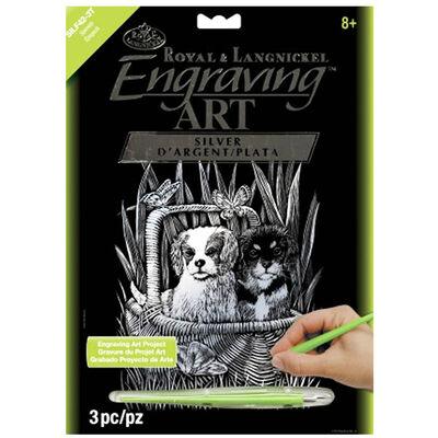 A4 Engraving Art Set: Spaniels image number 1