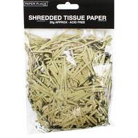 Gold Shredded Tissue Paper - 20g