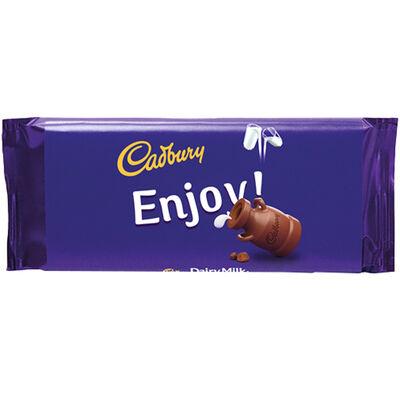 Cadbury Dairy Milk Chocolate Bar 110g - Enjoy image number 1