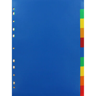 A4 Coloured Dividers - 10 Pack image number 1
