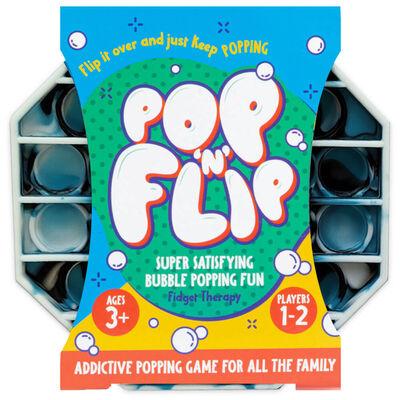Pop 'N' Flip Bubble Popping Fidget Game: Assorted Tie-Dye Black image number 1