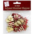 Wooden Advent Number Shapes: Pack of 24 image number 1