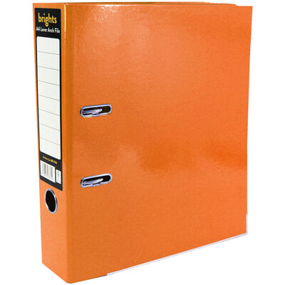 Bright Orange A4 Lever Arch File image number 1