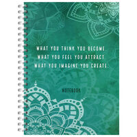 A4 Wiro Law Of Attraction Notebook
