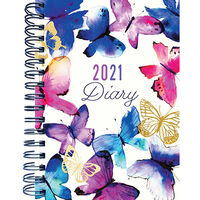A6 Butterflies 2021 Week To View Diary