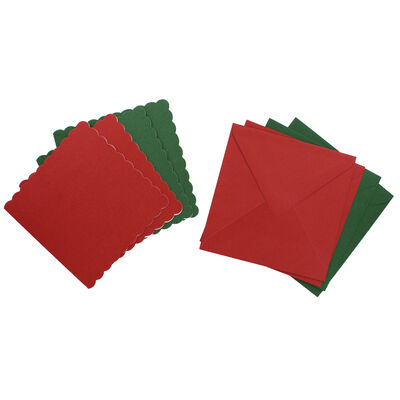 Pack of 4 Scalloped Cards and Envelopes: 6 x 6 Inches image number 2