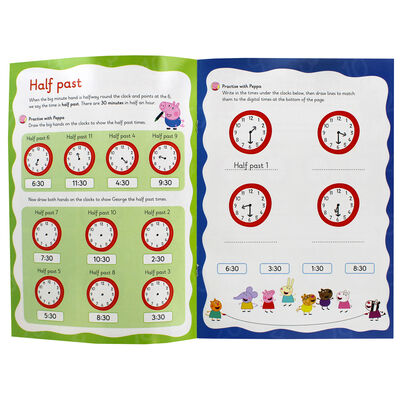 Peppa Pig Wipe-Clean: Telling the Time image number 2