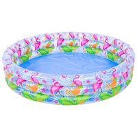 Inflatable Flamingo Printed 3 Ring Pool