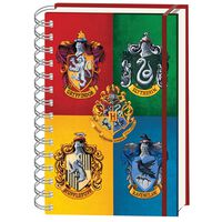 A5 Harry Potter House of Crests Notebook