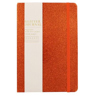 A5 Orange Glitter Cased Lined Journal image number 1