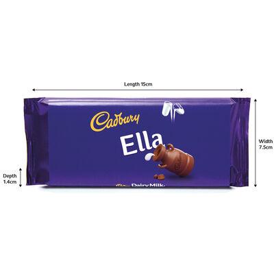 Cadbury Dairy Milk Chocolate Bar 110g - Ella image number 3