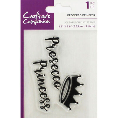 Crafters Companion Clear Acrylic Stamp - Prosecco Princess image number 1