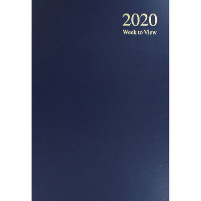 A4 2020 Blue Week to View Diary image number 1